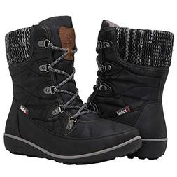 Globalwin Women's 1841 Black Winter Snow Boots 9.5M