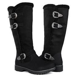 Globalwin Women's Black Winter Fasion Boots 8.5M