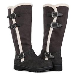 Globalwin Women's Grey Winter Fasion Boots 10M