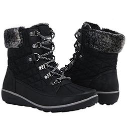 Globalwin Women's 1818 Black Snow Boots 9M
