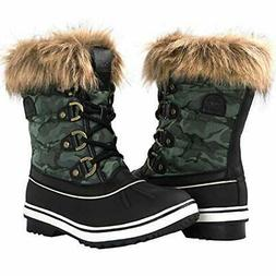 Globalwin Women's 1837 Winter Snow Boots black Green Camoufl