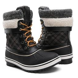 GLOBALWIN Women's Winter Snow Boots Black 10 D US Women's
