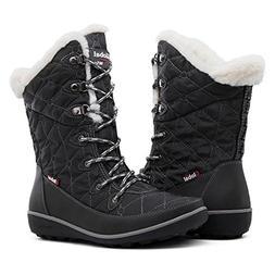 GLOBALWIN Women's Grey Winter Snow Boots 8.5M