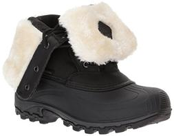 Kamik Women's Harper Snow Boot, Black/White, 7 D US