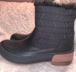 Merrell HAVEN BLUFF Polar Snow Boots Black Leather Women Sz