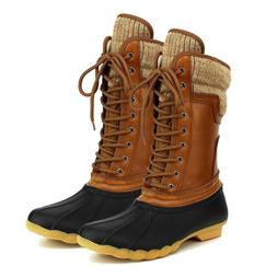 Hunter-07 Women's Winter Warm Lace Up Duck Boots Snow Waterp