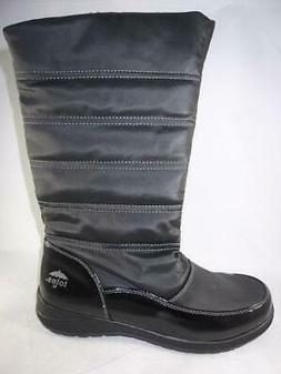 TOTES JACKSON Women's Snow Boots Black Knee High Insulated W