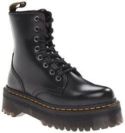 Dr. Martens Women's Jadon Boot,Black Polished Smooth,8 UK/10