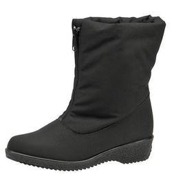 Toe Warmers Jennifer Black Waterproof Warm Winter Snow Boots