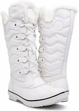 kingshow Women's Globalwin 1711 Winter Snow Boots, White, Si