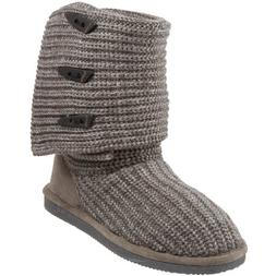 BEARPAW Women's Knit Tall Snow Boot  US, Gray II)