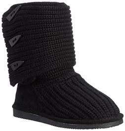 BEARPAW Women's Knit Tall Snow Boot  US, Black)