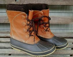 L.L Bean Snow Boots, Tumbled Leather Model 299622 Color mapl