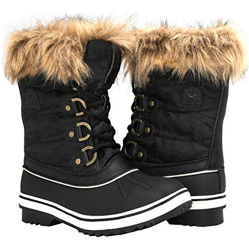 1838 black winter snow boots