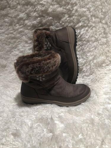 $99.99 Easy Women Snow warm casual Brown