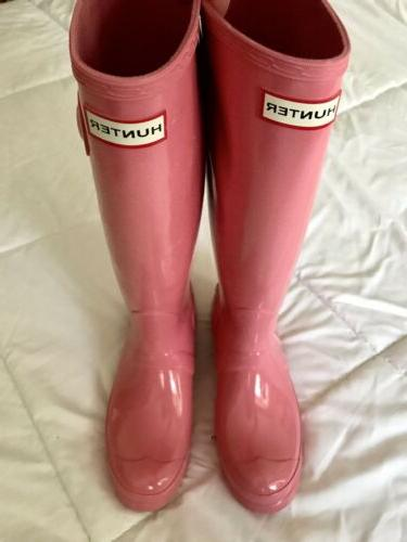 Authentic Tall Gloss Rain Snow Boots / UK 4