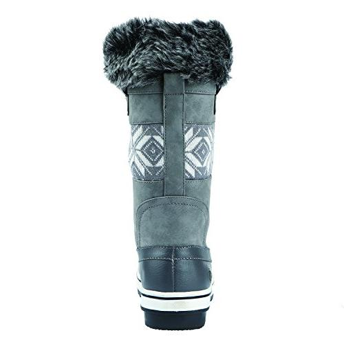 Northside Women's Snow Boot, Gray, 8.5 B