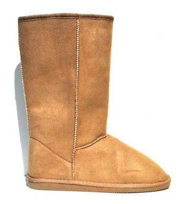 camel women winter warm snow boots mid