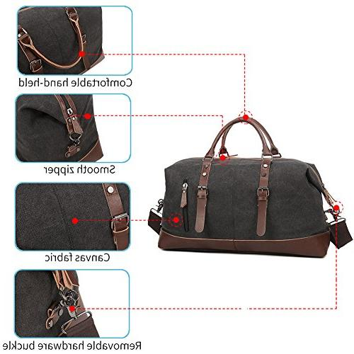 Fresion Leather Portable Handbag Carry Overnight with Size