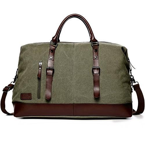 canvas leather portable handbag carry