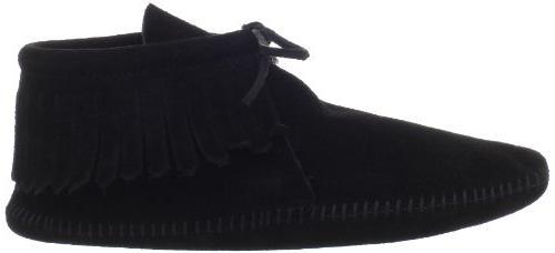 Minnetonka Boot,Softsole Black,11