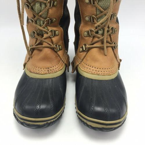Sorel Trail Brown Rubber Sole Leather Boot Size 8.5