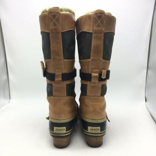 Sorel Conquest Brown Lace Up Rubber Sole Leather Boot Size 8.5