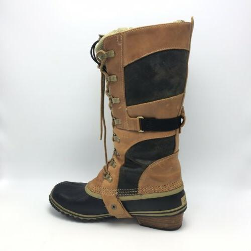 Sorel Brown Tall Up Rubber Size