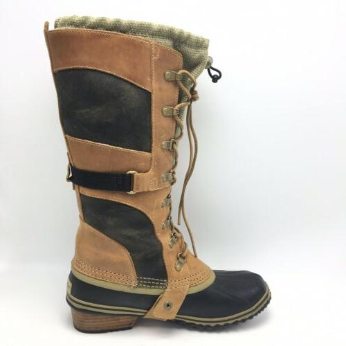 Sorel Conquest Brown Lace Rubber Leather Size 8.5
