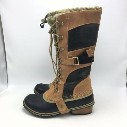 Sorel Brown Tall Rubber Sole Size 8.5