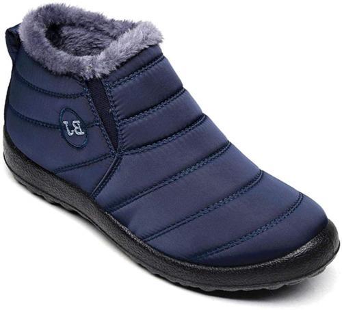 Dear Time Women Winter Snow Ankle Boots Fur Lining Waterproo
