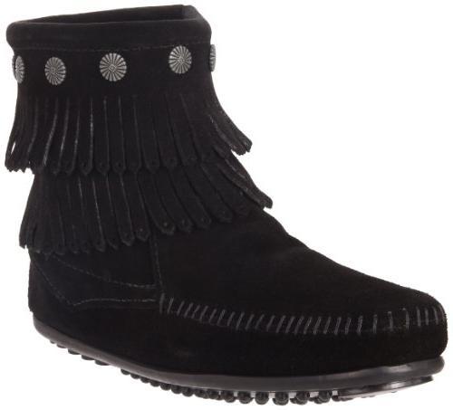 double fringe side zip boot