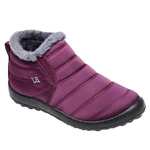 fashion women winter casual keep warm ankle