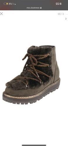 Beston FM21 Women's Strap Ankle High Side Zipper Sole Winter