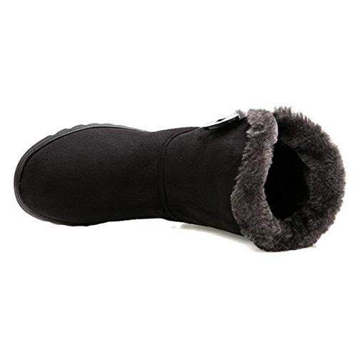 Fur Lined Boots Button on Booties