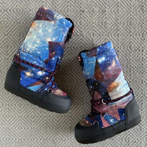 Hunter Galaxy Moon Boots Size 6 Women Winter