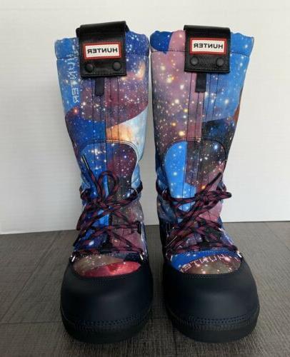 Hunter Galaxy Moon Snow Boots 6 Women Winter