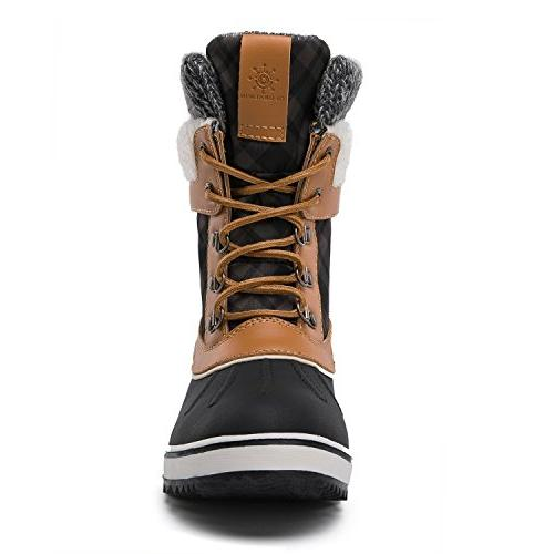 Boots US Women's, Black/Camel)