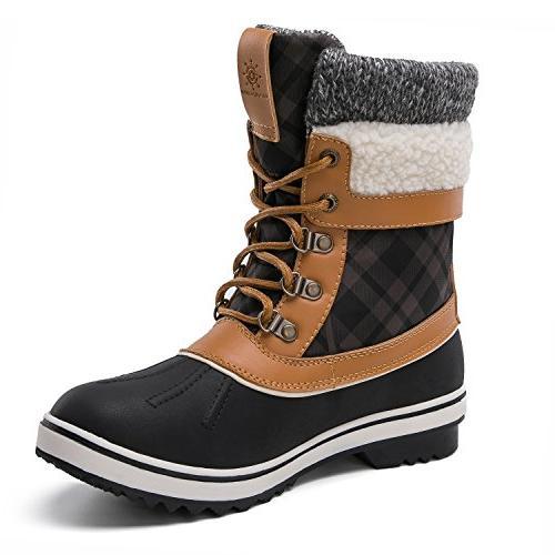 Globalwin Women's Boots Women's, Black/Camel)