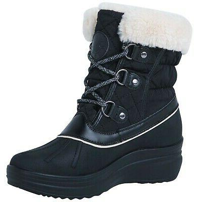 Globalwin Women's Winter Snow Boots 1823black 9