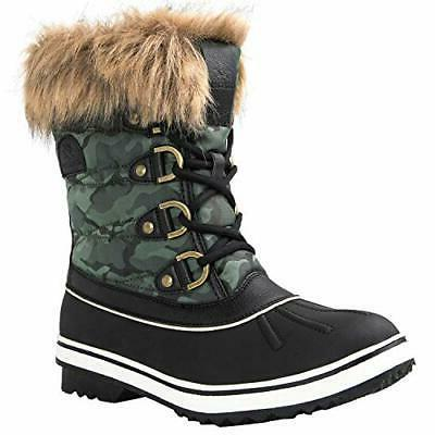 Globalwin Women's Snow Boots Camouflage Color