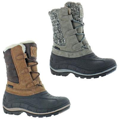 hannah women s waterproof winter snow boots