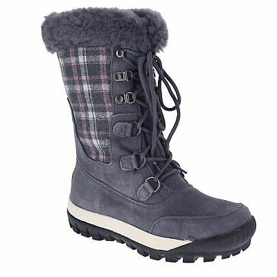 lotus charcoal womens snow boots size 9m