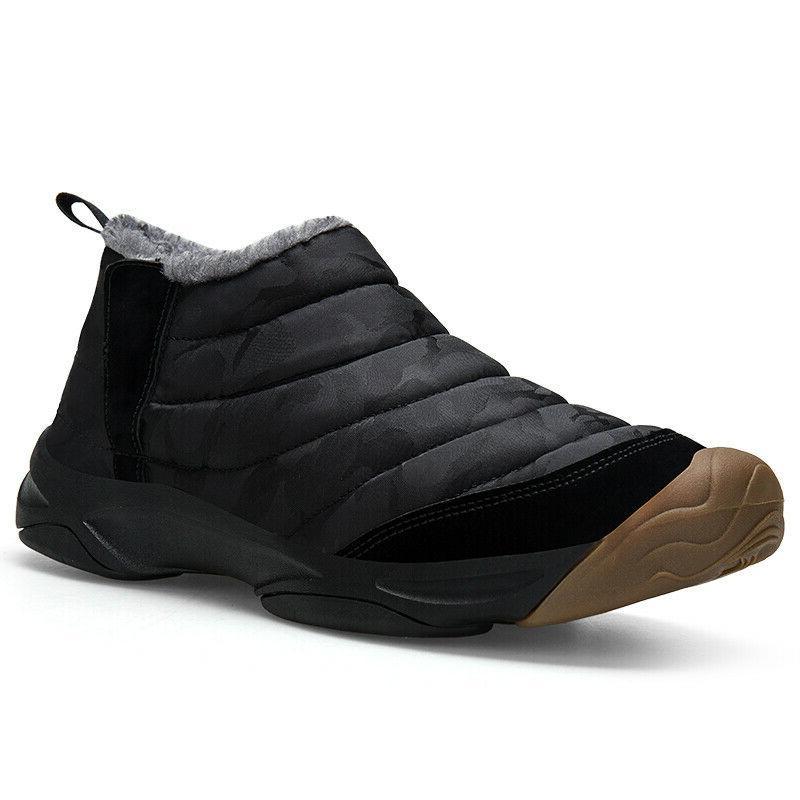 Men Boots Ankle Fur Warm Shoes Casual Waterproof