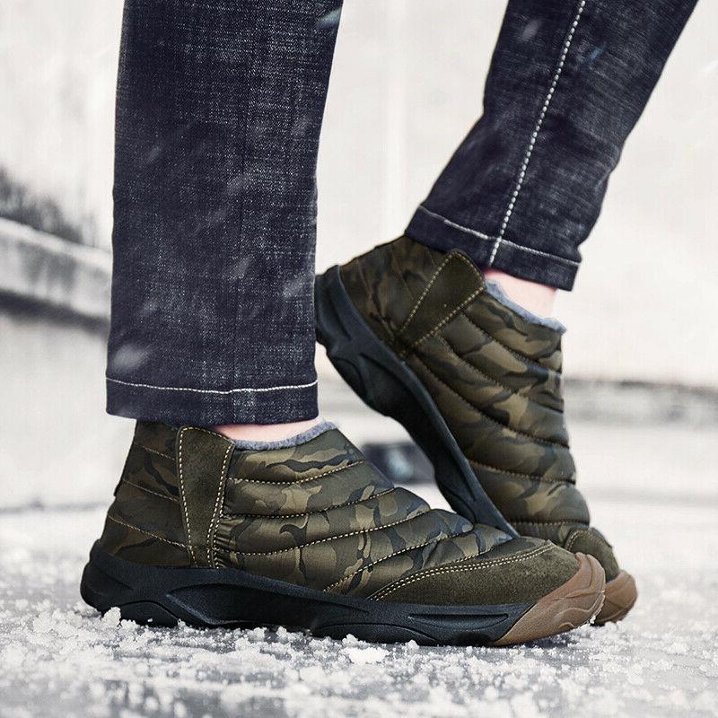 Men Women Boots Warm Shoes Waterproof