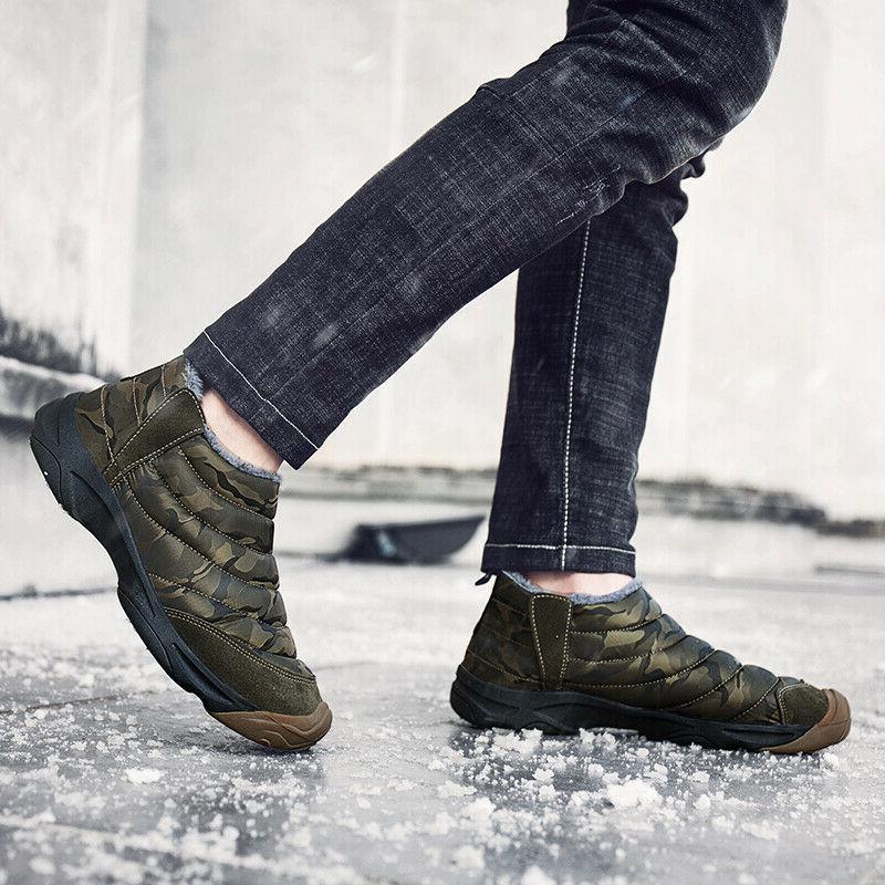 Men Boots Warm Shoes Waterproof
