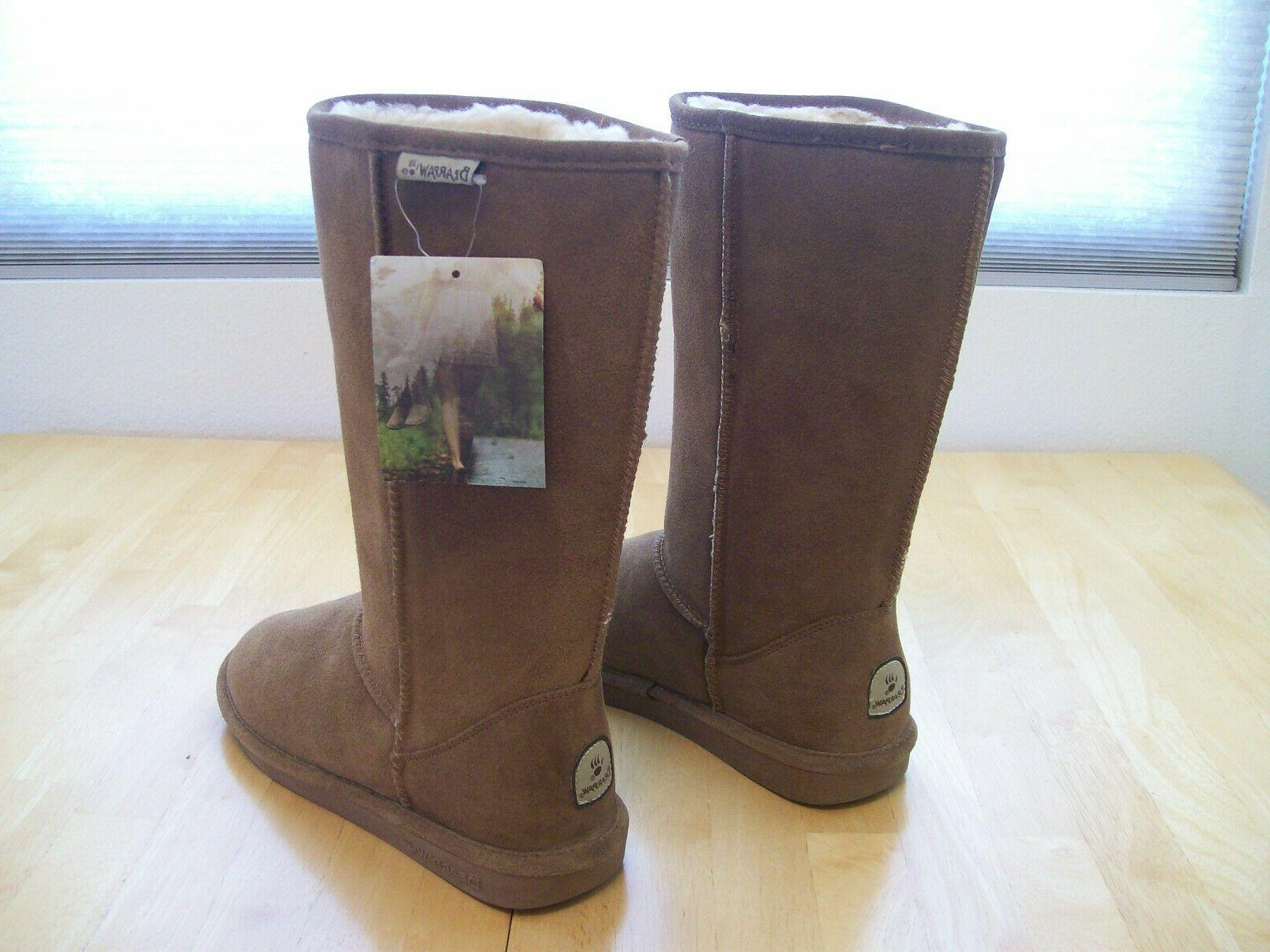 New Tall Suede Snow Brown Womens 10