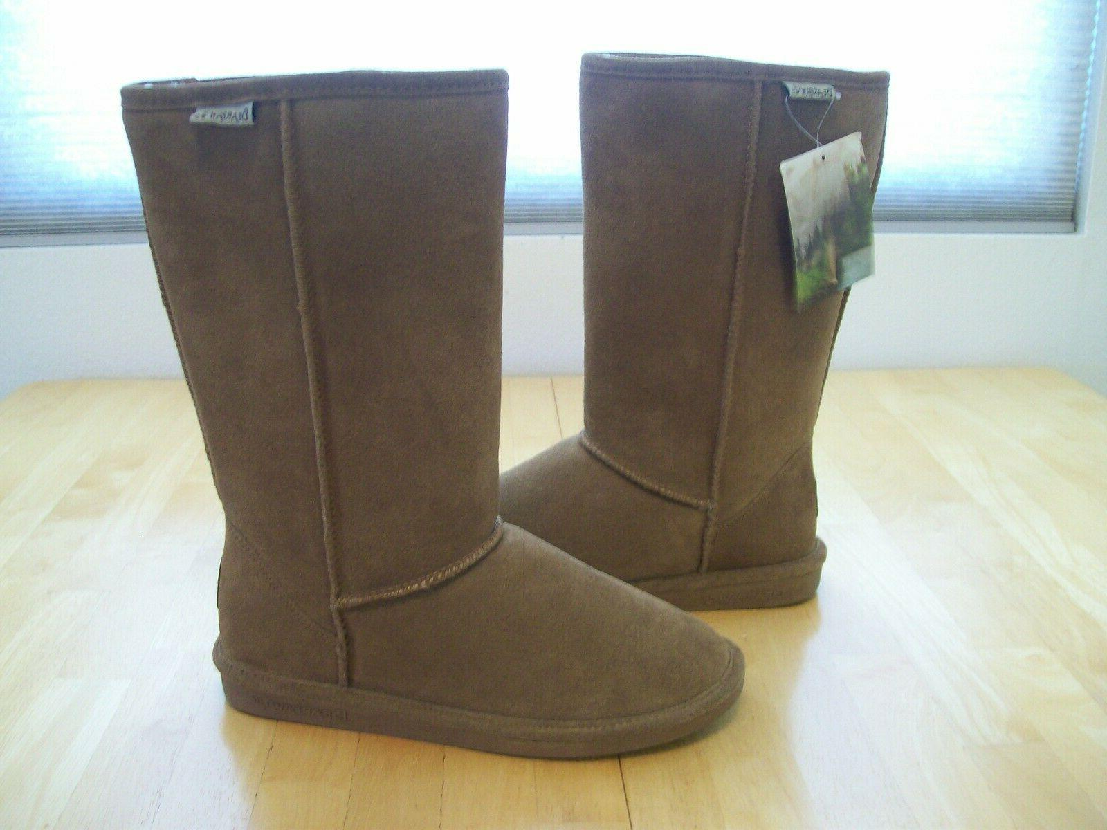 New Bearpaw Suede Snow Brown size