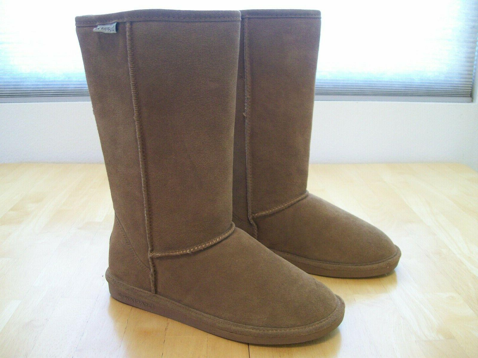 New Elle Tall Suede Boots Brown