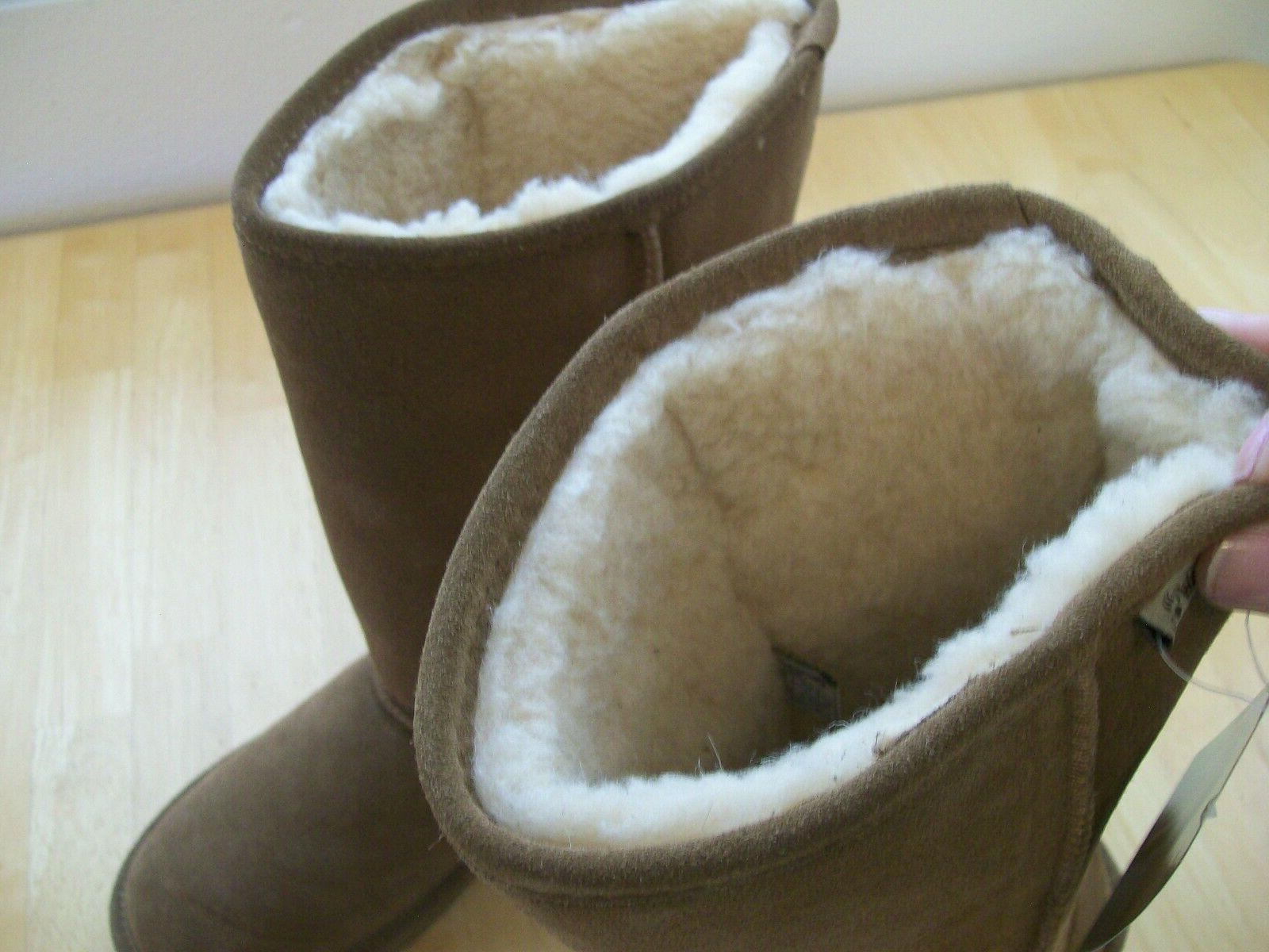 New Suede Snow Boots Hickory Brown